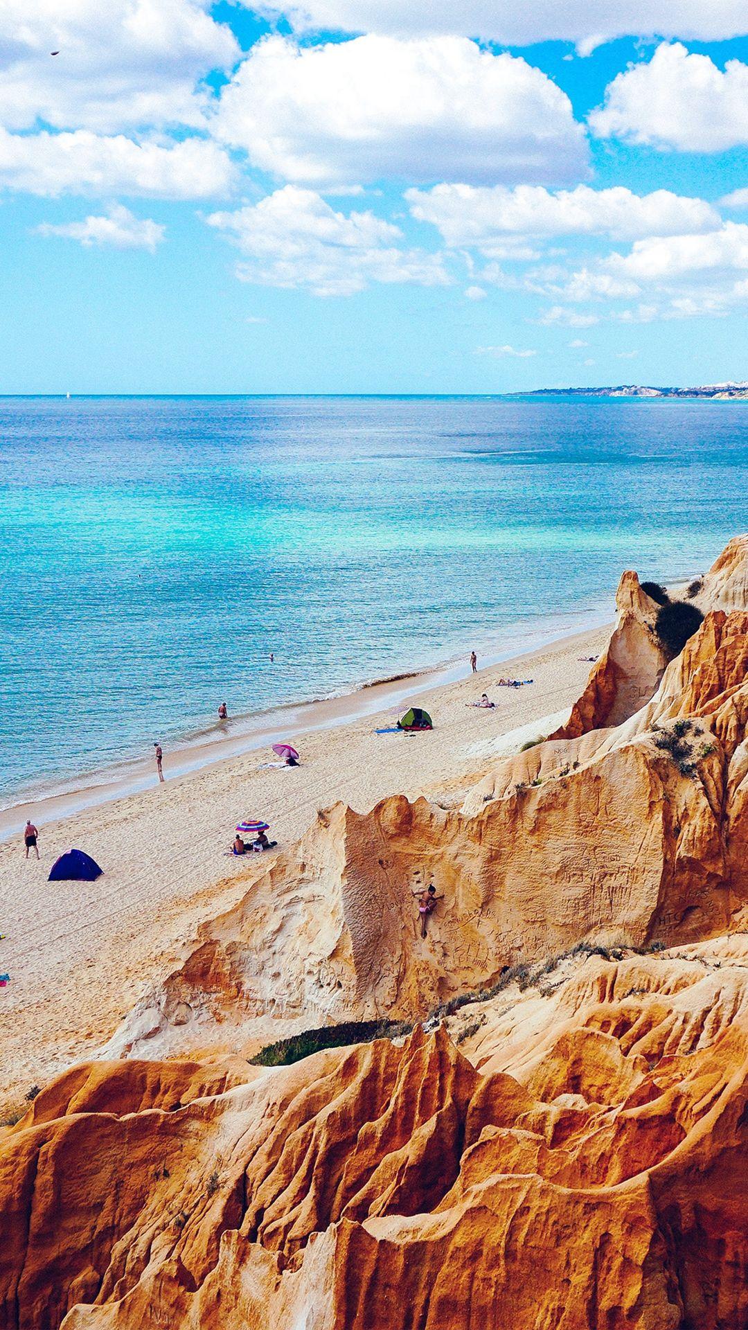 Nature Sea Vacation Beach Rock Summer Blue Iphone 8