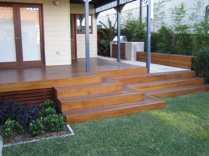 How to build wrap around deck stairs google search for Garden decking near me