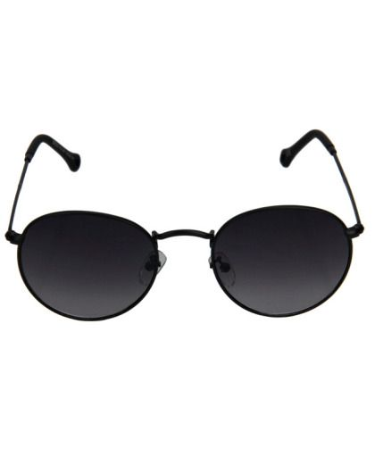 Óculos de sol redondo preto Maeva