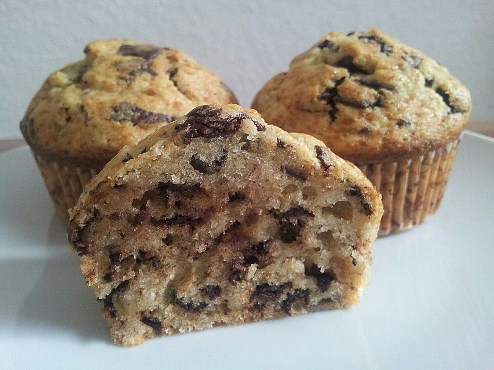 Chefkochde Rezept Schnelle Schoko - Bananen - Muffins Backen