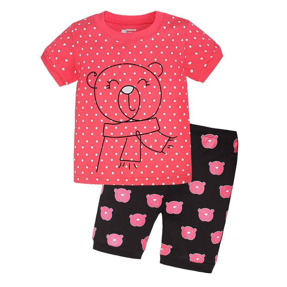 c49721d3f Girls Clothes Summer 2017 Girls Pijamas Sets Kids Clothes Cartoon ...