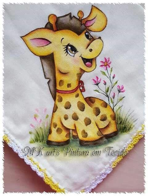 Giraffa Baby Animali Pittura Su Stoffa Pittura Su Stoffa Modelli Animali Di Feltro Disegni Di Animali Carini