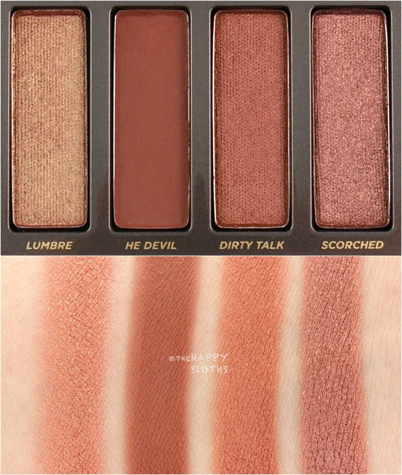 Urban Decay Naked Heat Eyeshadow Palette Swatches and ...