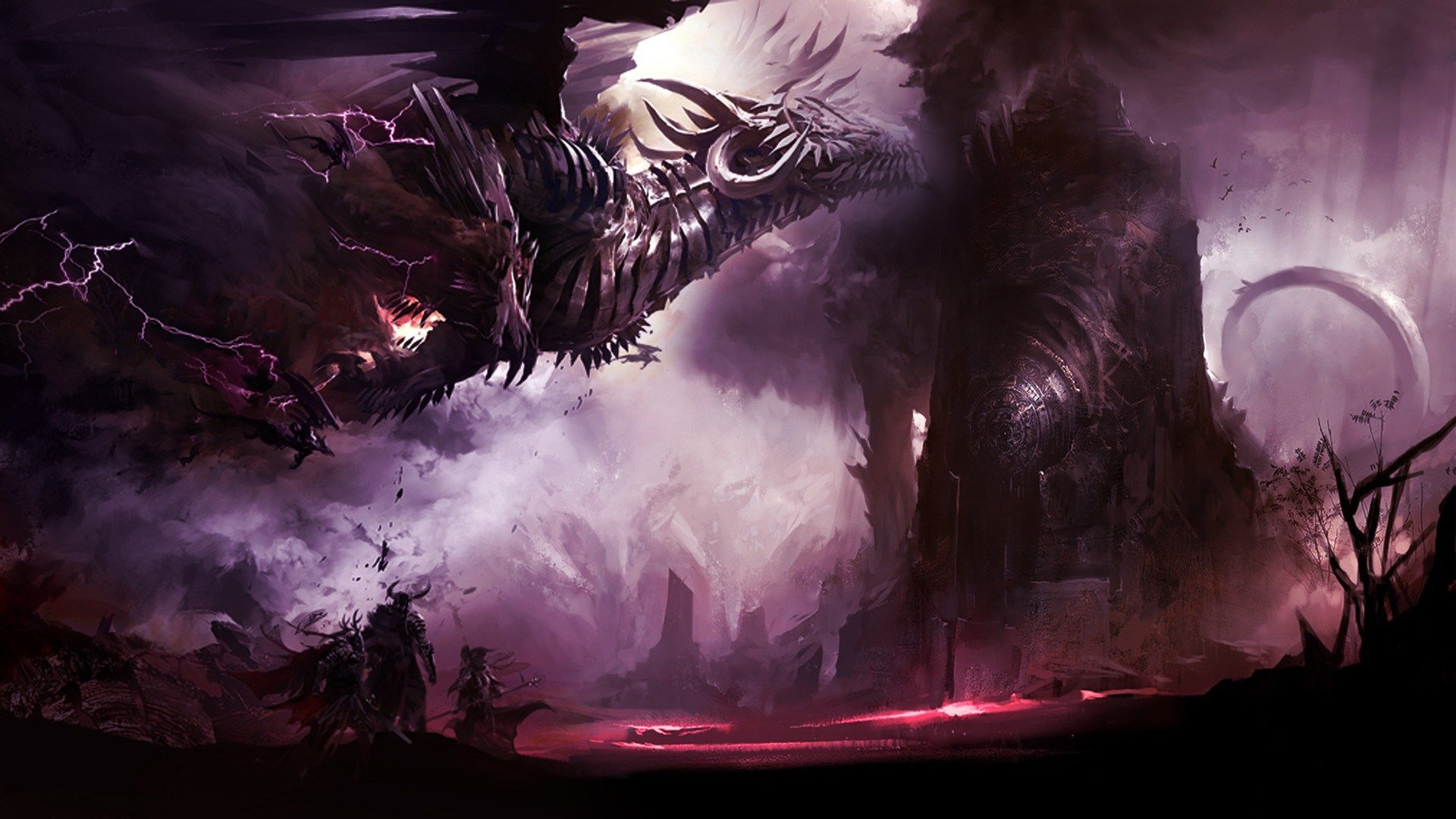 Guild Wars 2 Full Hd 1920x1080 Guild Wars Dragon Pictures Japanese Dragon