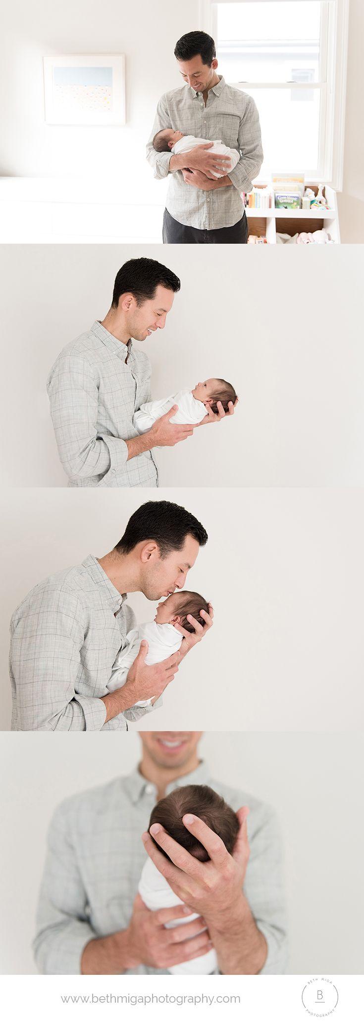 dad and newborn pose ideas | dad with newborn | in home newborn ...