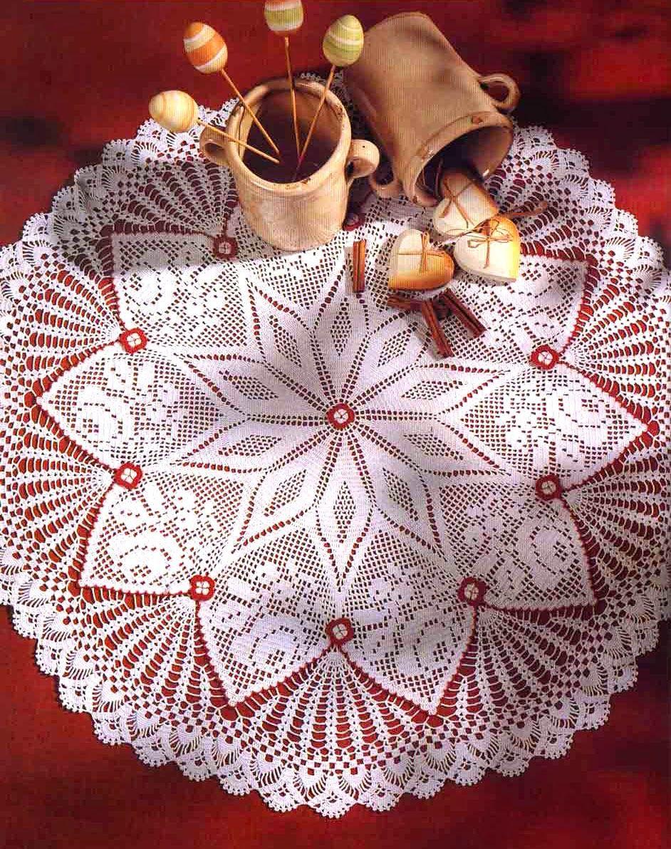 Tejidos artesanales en crochet carpeta inspirada en la - Centros de mesa de ganchillo ...