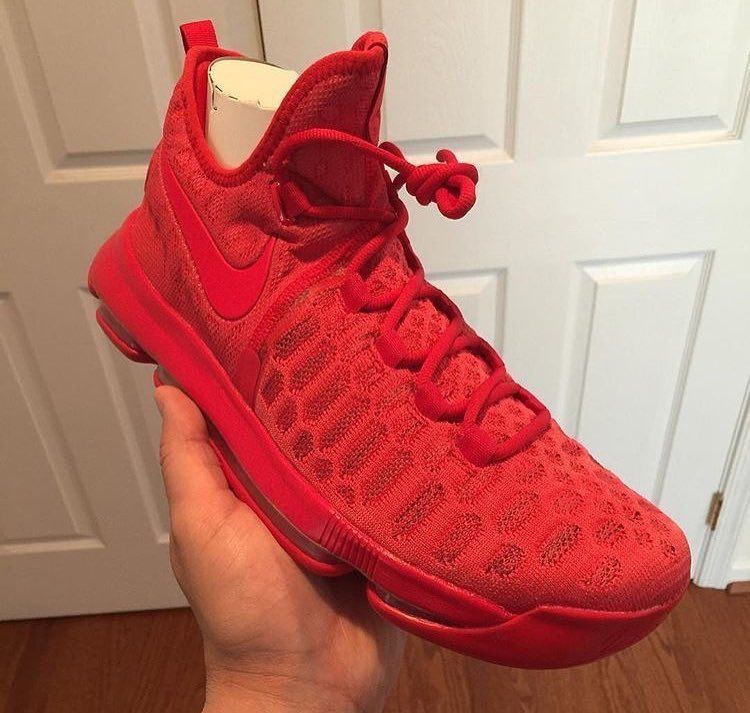 ad00062063f ... good an all red nike kd 9 could be releasing soon 5d1fd 7153d