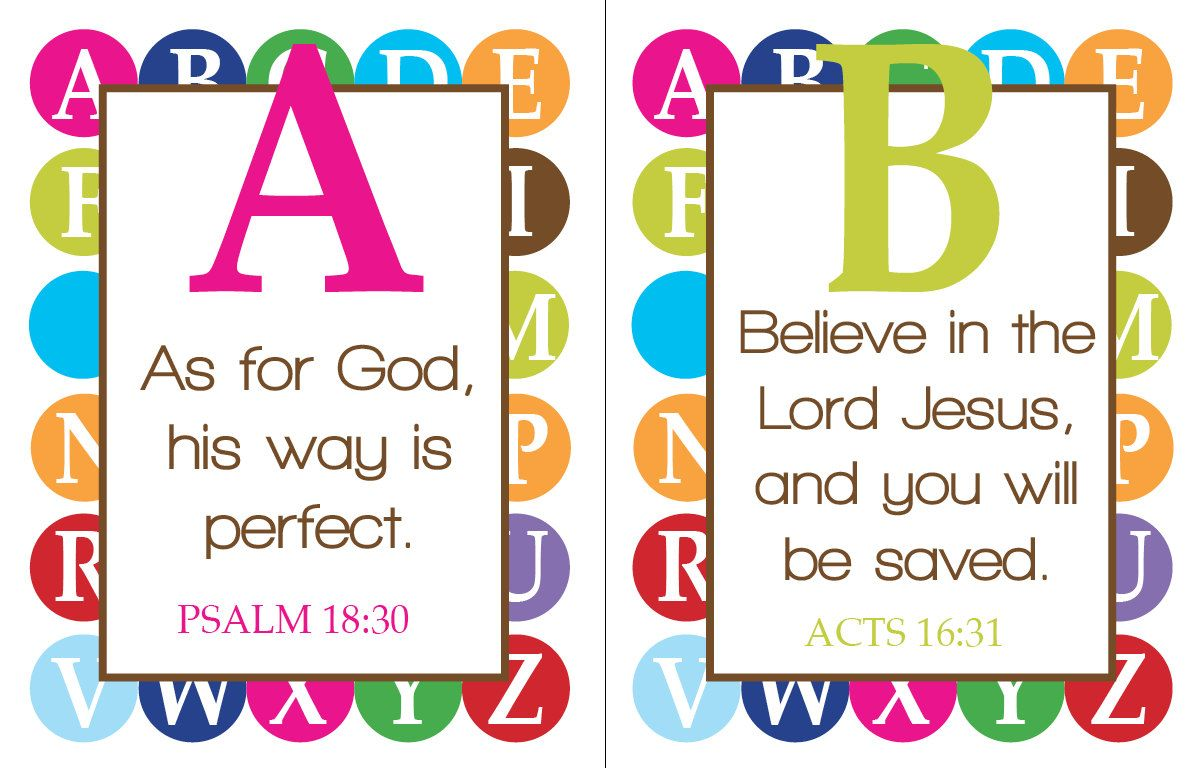 A Bible Verse For Every Letter Of The Alphabet Printables