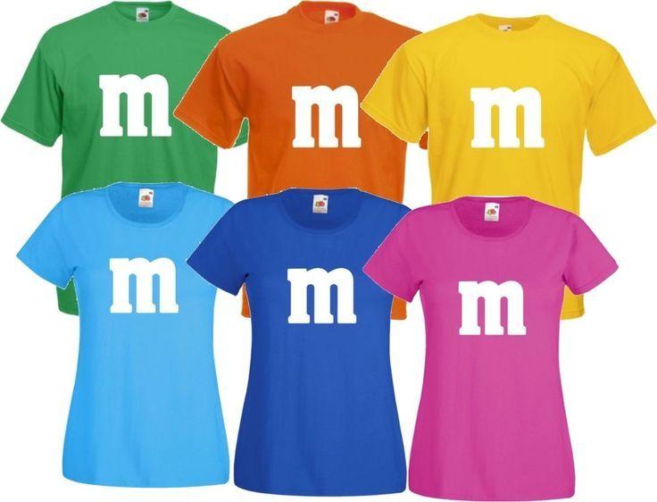 Kostüm Gruppenkostüm Paarkostüm für M/&M Fans M und M Karneval Shirt