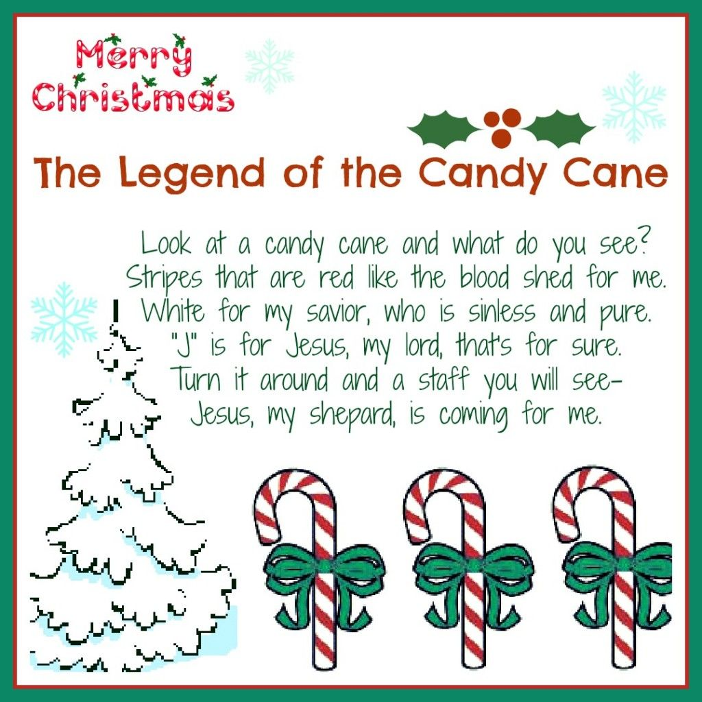 The Legend Of The Candy Cane Free Printable And A