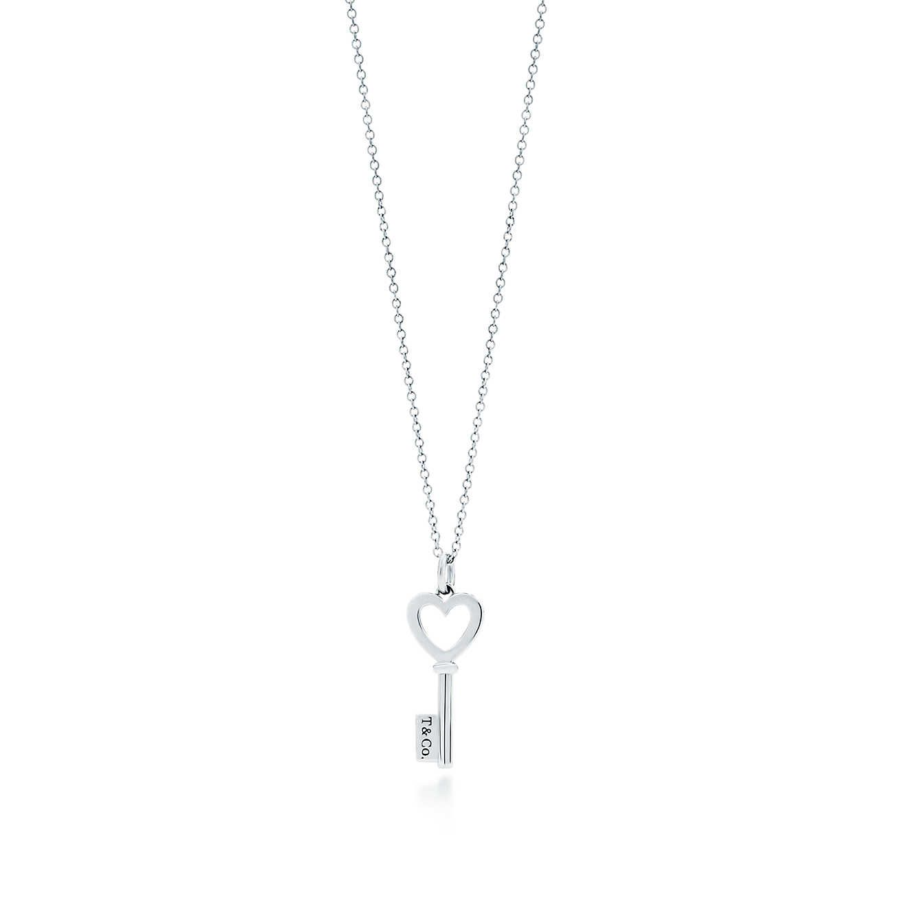 Tiffany Keys Heart Key Pendant In Sterling Silver Mini Heart