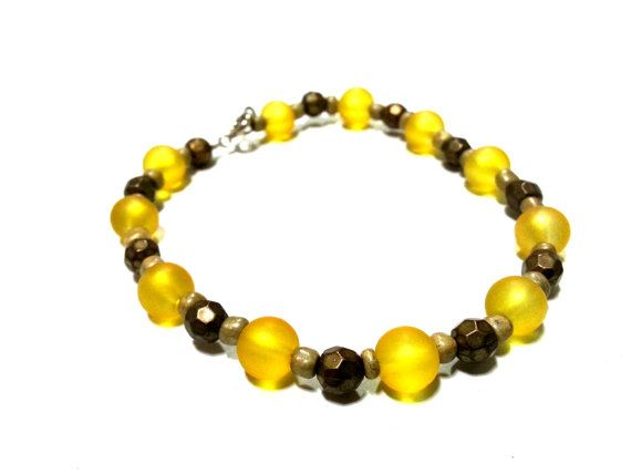 8 Inch Yellow and Gold Bracelet Yellow by DCArtandPhotography, $4.99