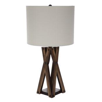 Brown Crossed Wood Lamp Wood Lamps Bright Colored Furniture