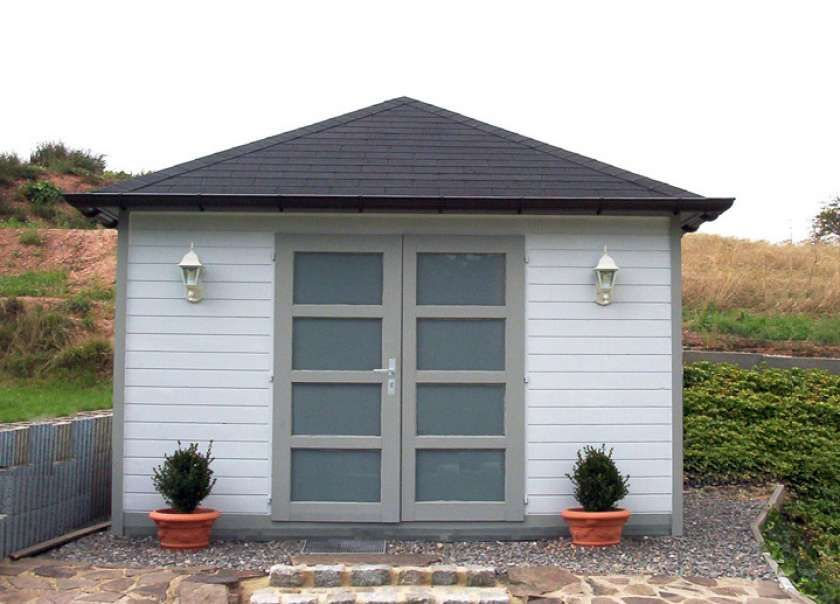 Gartenhaus Summertime40 mit großer Falttür Gartenhaus
