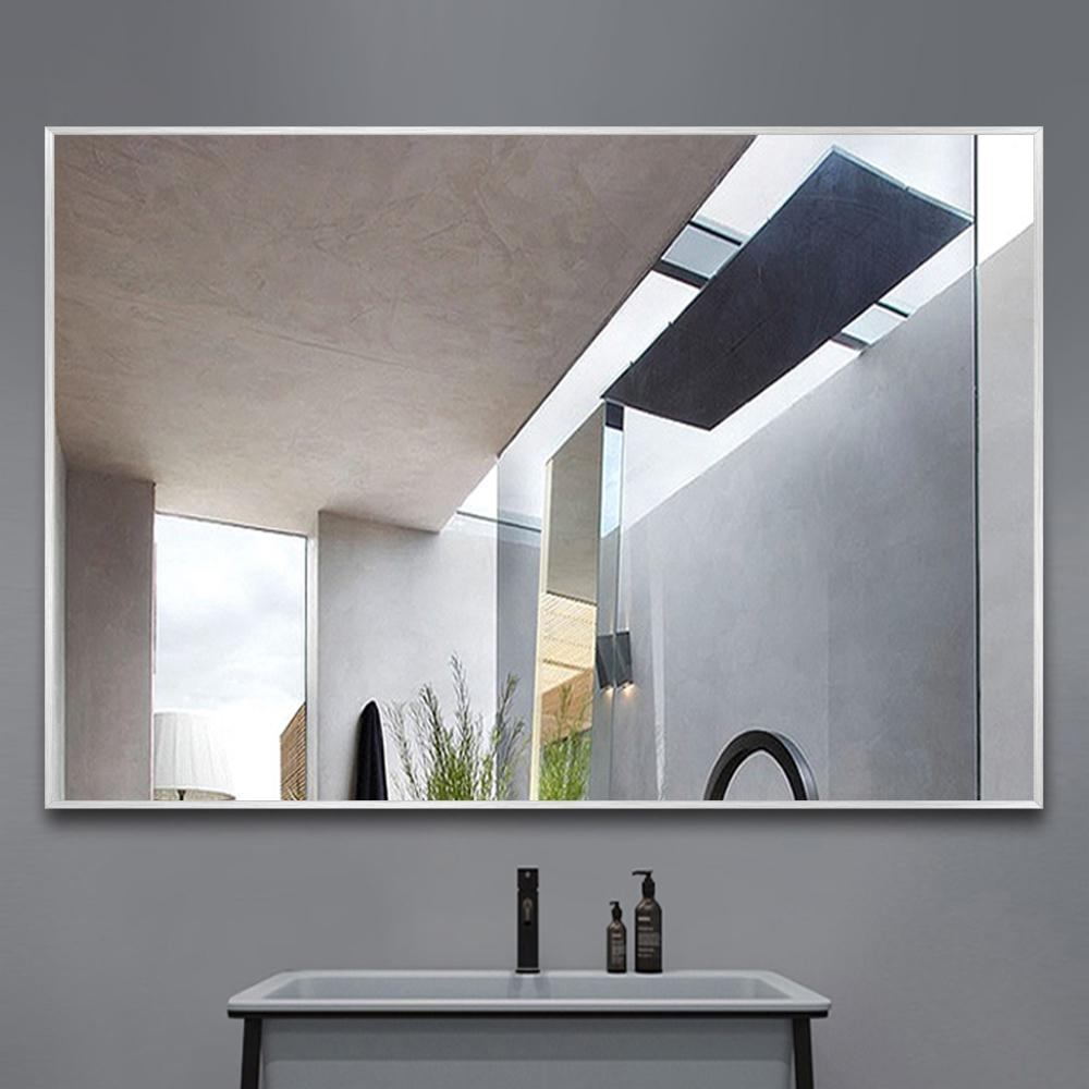 Neu Type Modern Simple Metal Hanging Wall Mounted Mirror Bathroom