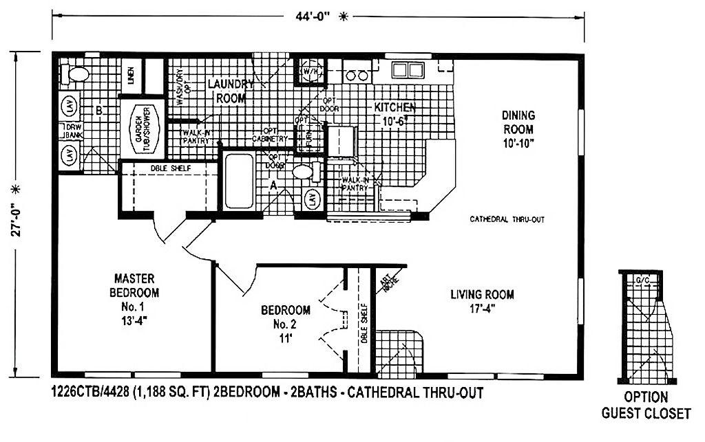 West Ridge 1226CT... 58,455 Manufactured homes floor
