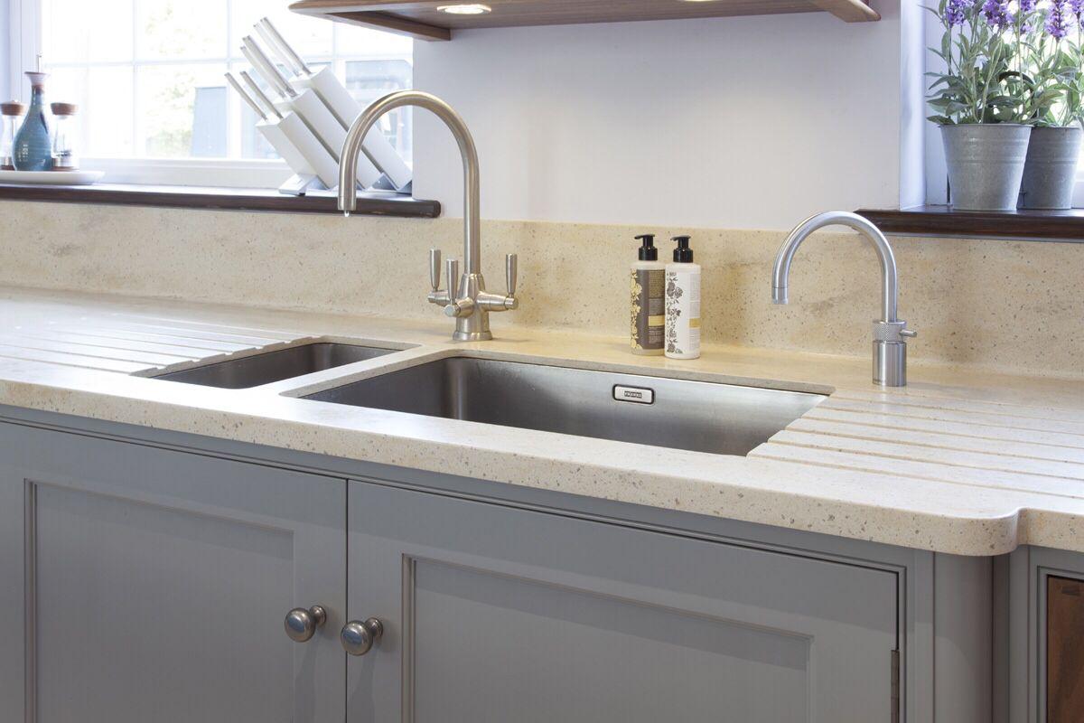 Granite worktop with under-mount sink | kitchen | Pinterest
