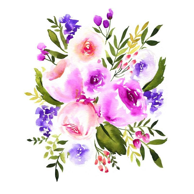All The Purple Flowers Watercolor Kit In 2020 Watercolor Flowers