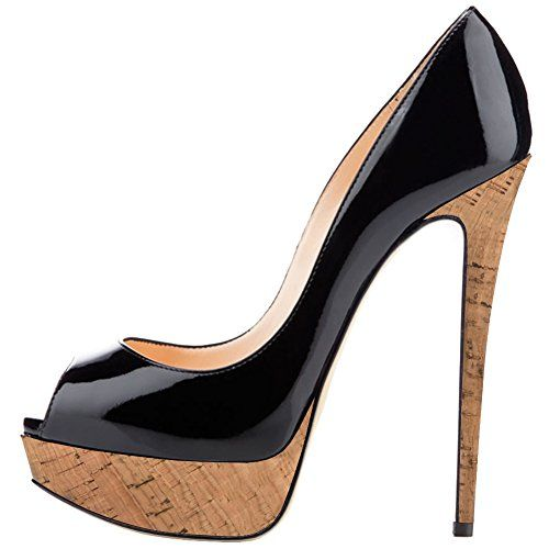 Scarpe DA DONNA PUMPS WOW Peep Toe Tacco Alto Stiletto Argento 2013 37