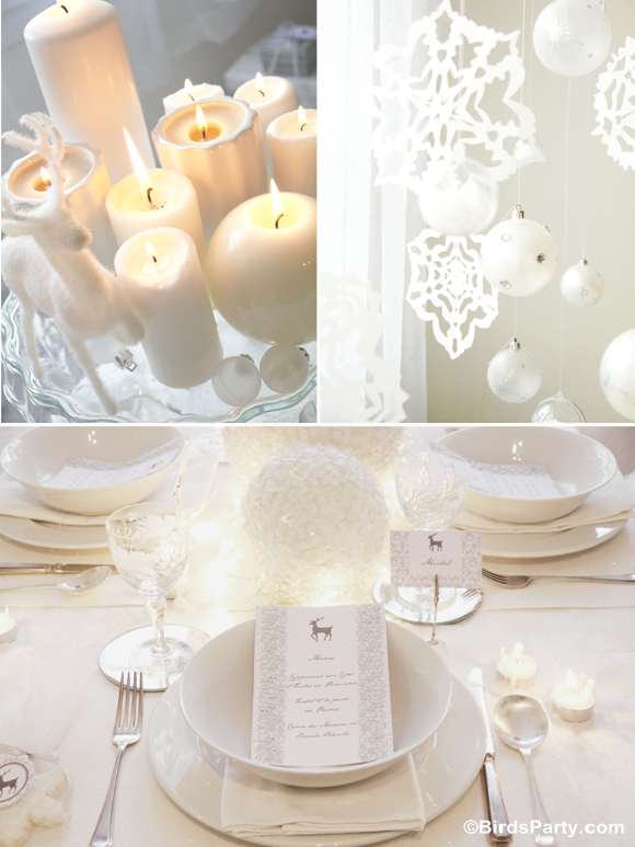 White Christmas Party Theme Ideas Part - 18: Chirstmas Party Ideas: White Winter Wonderland Christmas Party By Birdu0027s  Party