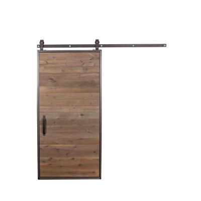 Rustica Hardware 42 in. x 84 in. Mountain Modern Wood Sliding Barn on