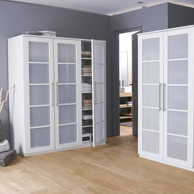 soldes armoire penderie 3 portes ykuro 2 3 penderie 1 3. Black Bedroom Furniture Sets. Home Design Ideas