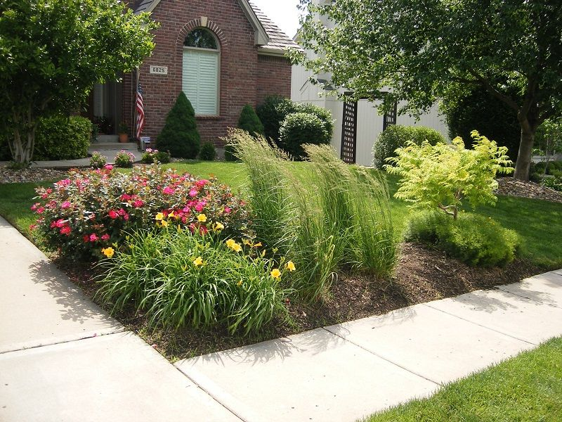 Corner landscape installationpanting daylily rose ornamental grass corner landscape installationpanting daylily rose ornamental grass tiger workwithnaturefo