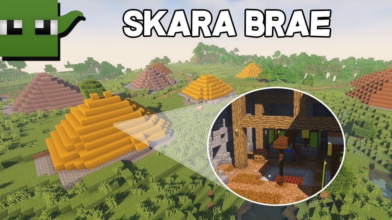 Minecraft Lets Build Skara Brae Iron Age Settlement Building