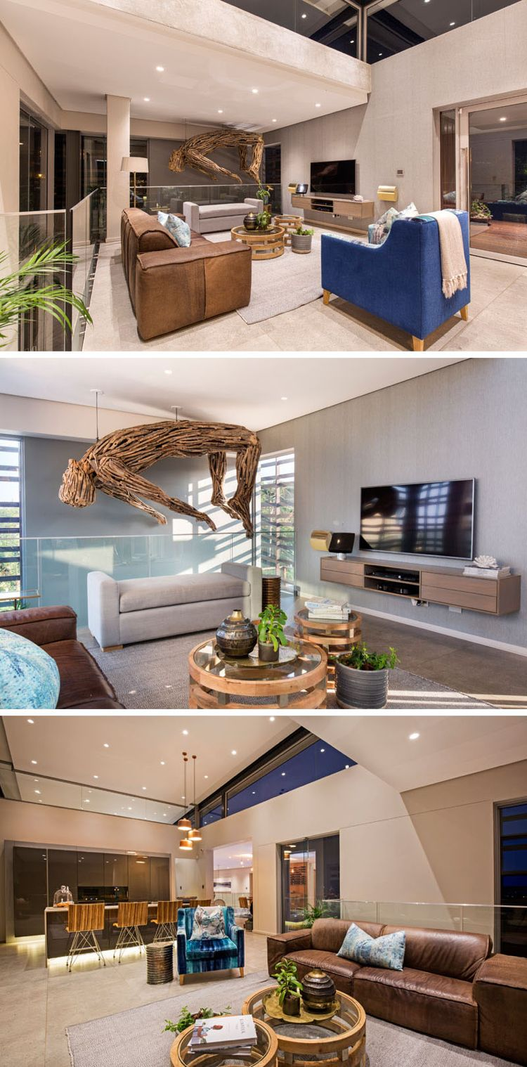 In Exklusivem Ambiente Wohnen   Offenes Wohnzimmer Mit Küche