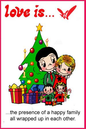 Love Is The Best Gifts Under The Christmas Tree Love Is Cartoon Relationships Love Love