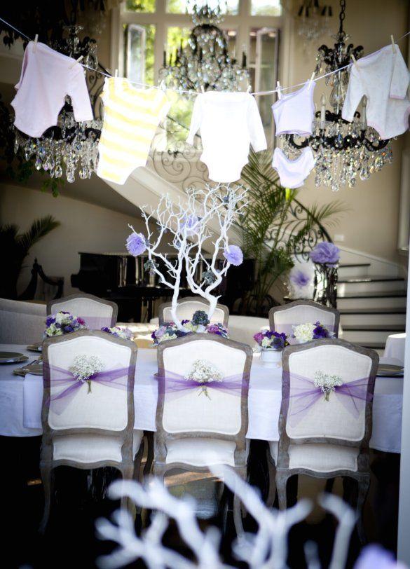 Elegant Baby Girl Showers ~ Elegant baby shower decorations pretty purple girl