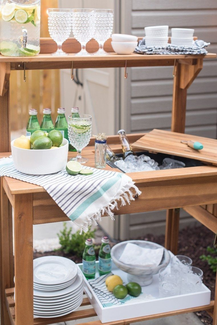 Lowe S Spring Makeover A Posh Patio Outdoor Kitchen Appliances Outdoor Kitchen Outdoor Kitchen Bars