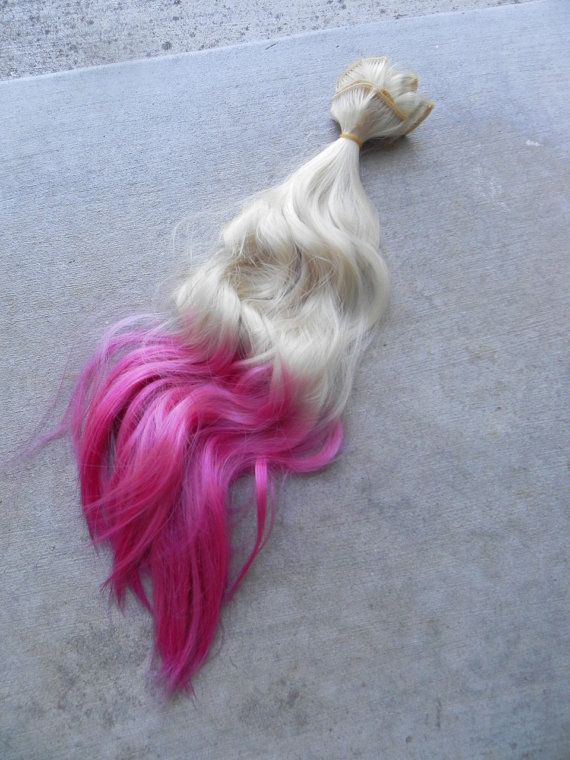 On Sale Blonde And Pink Red Ombre 18 Long Clip In Dip Dye Ombre