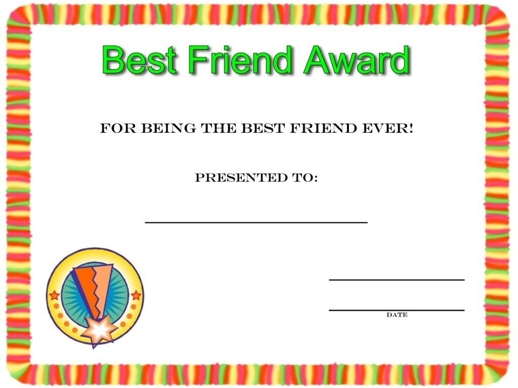 Best Friend Award