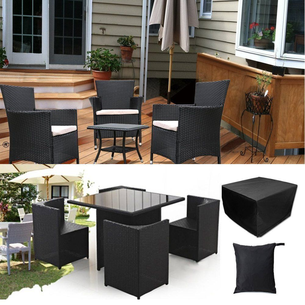 Garden Patio Rectangular Table Chairs Protective Cover Waterproof Dustproof Folding Furnitur Cover Furniture From Furniture Home Improvement On Banggood Com Garden Furniture Covers Patio Garden Patio Set