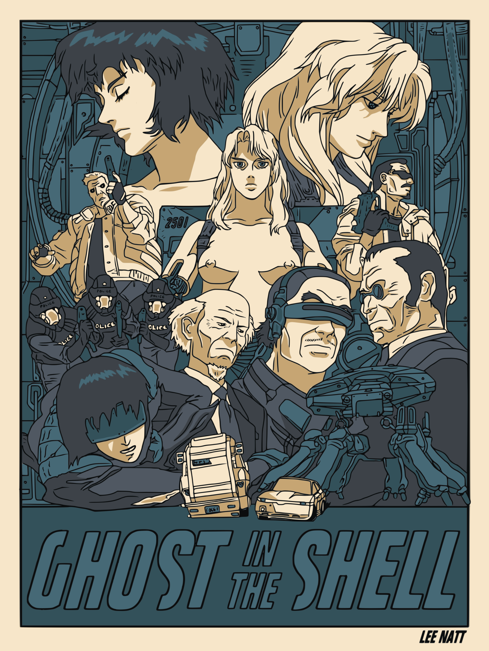 Ghost In The Shell Poster By Leenatt On Deviantart Ghost In The Shell Anime Ghost Anime