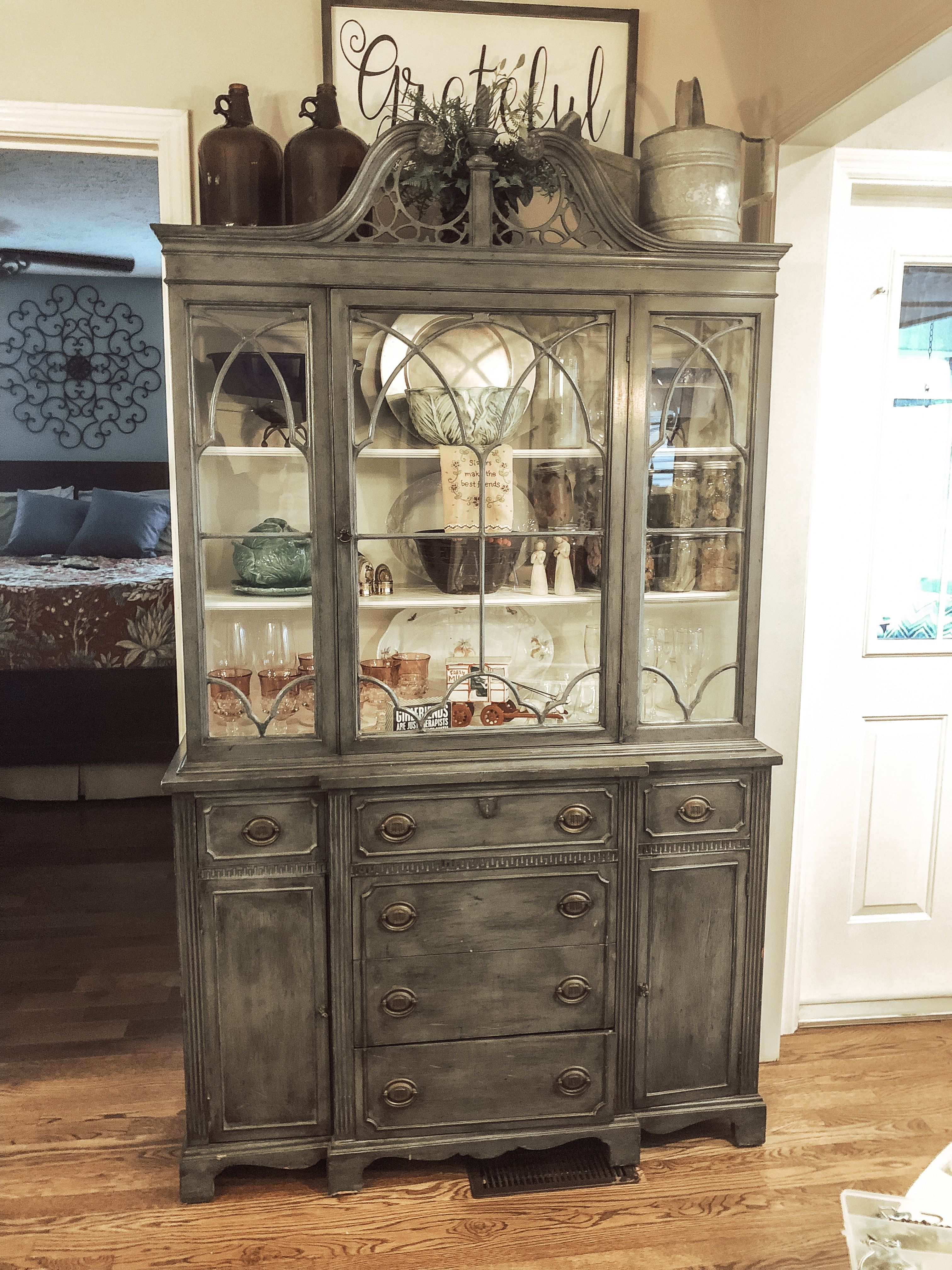 Decorating The Top Of Cupboard Or China Cabinet Homed