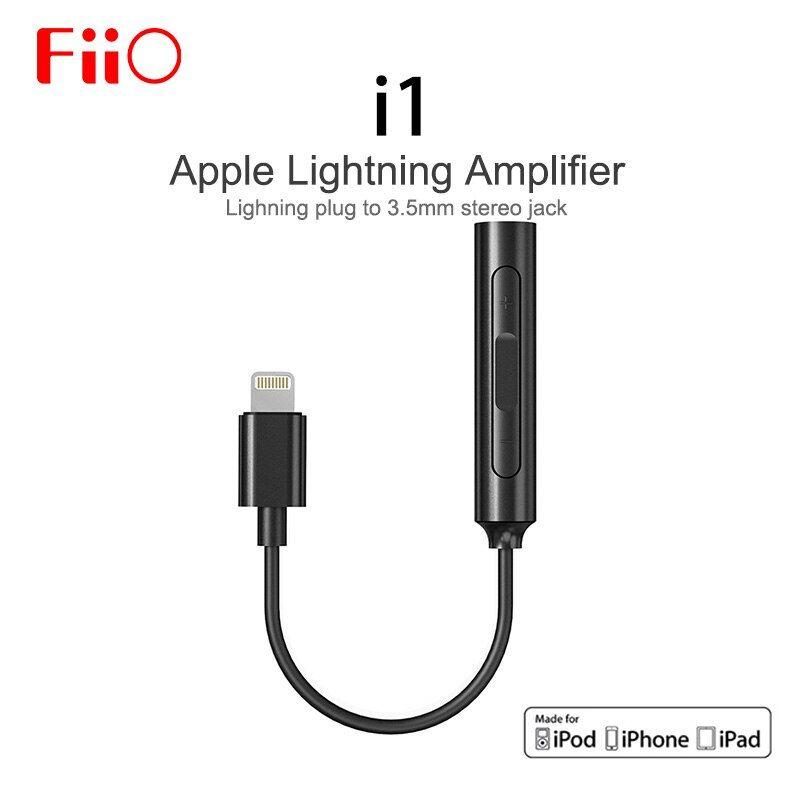 Fiio Amplifier Dac I1 80cm 7cm For Apple For Iphone Mfi Fiio 3 5mm For Lightning Earphone Dac Improve Sound Quality Cable Mfi Earphone Adapter Plug