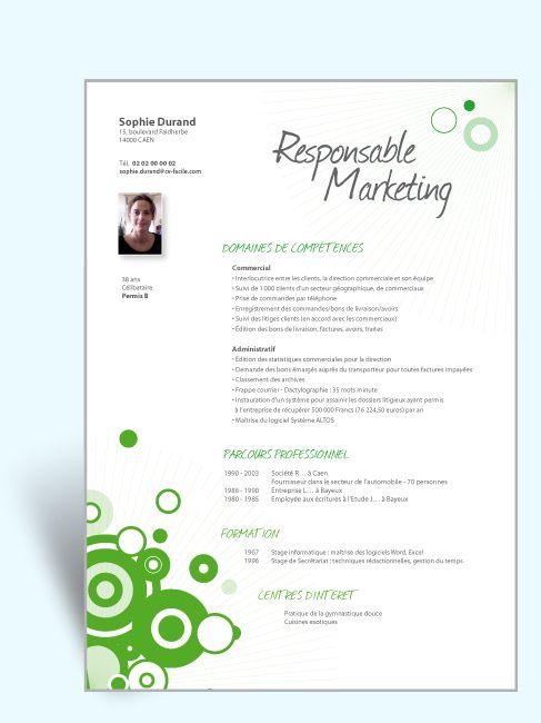 Modèle Cv Original Responsable Marketing Cv Original
