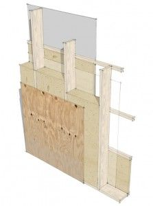 The Scandinavian Wall: standard exterior framing with plywood ...