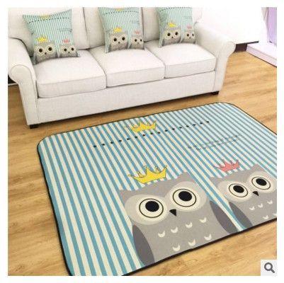 145X200CM Lover Owl Carpets For Living Room Children Bedroom Rugs
