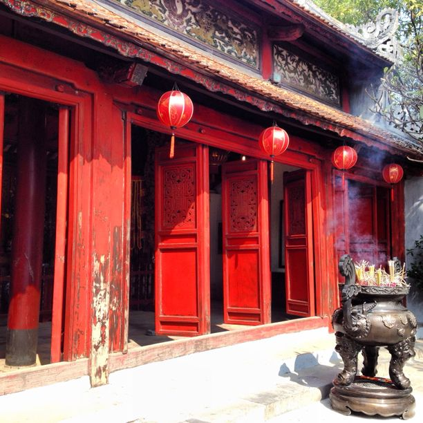 Ngoc Son Temple, Hanoi, Vietnam — by Michelle Finseth. Built in the 17th century, Ngoc Song temple (Temple of the Jade Mountain) is located on an island on Hoan Keim Lake,...