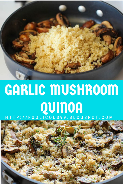 Photo of GARLIC MUSHROOM QUINOA (Vegetarian , GF )