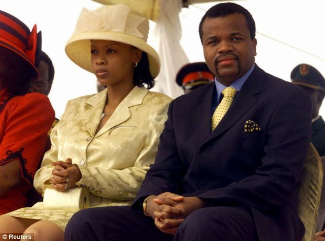 Image result for pictures of Nothando Dube and swazi king