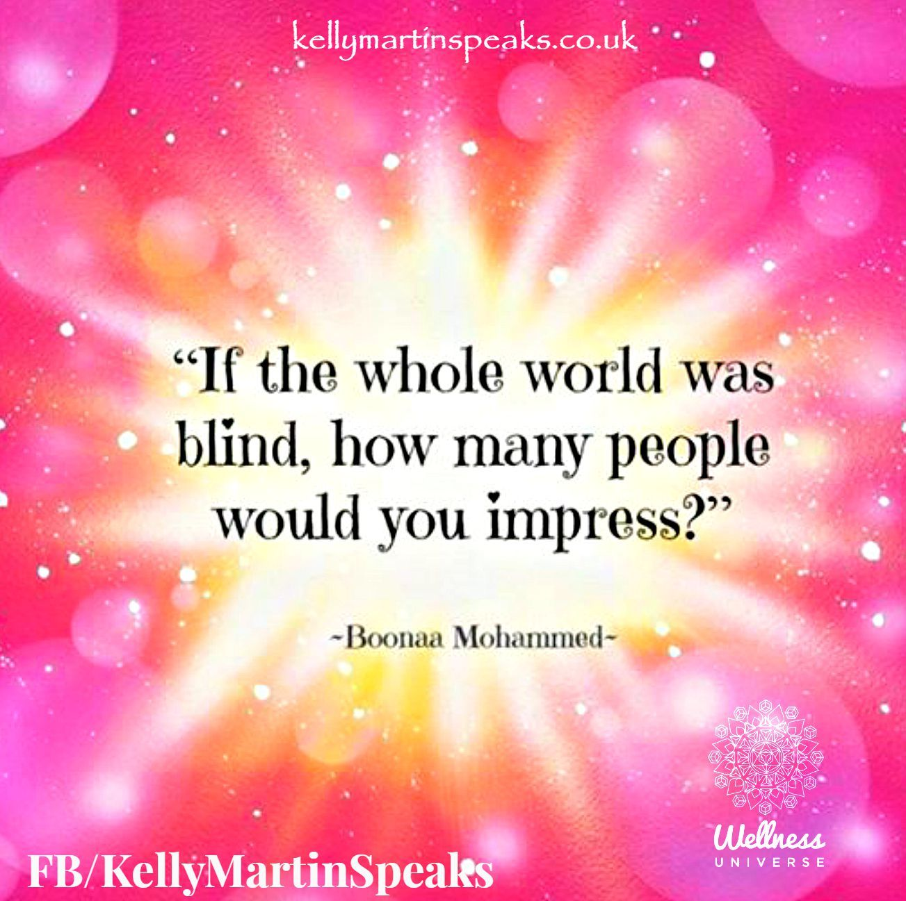 If the whole world was blind, how many people would you