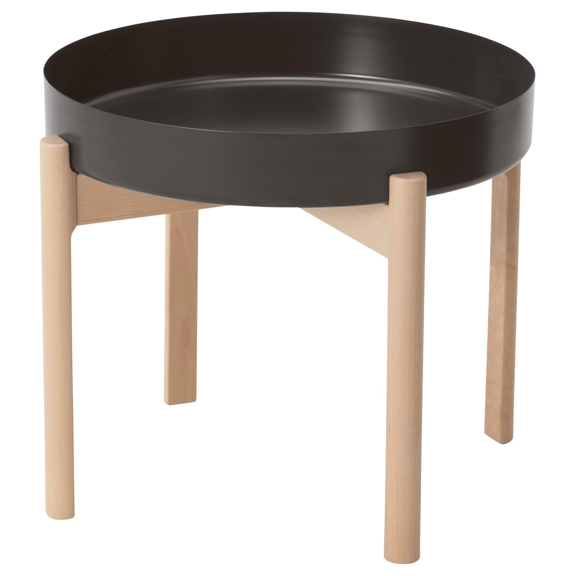 Ikea Ypperlig Dark Gray Birch Coffee Table New Apt In