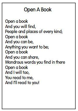 Open a Book Poem - Great to finish our Author Study Joyful ...