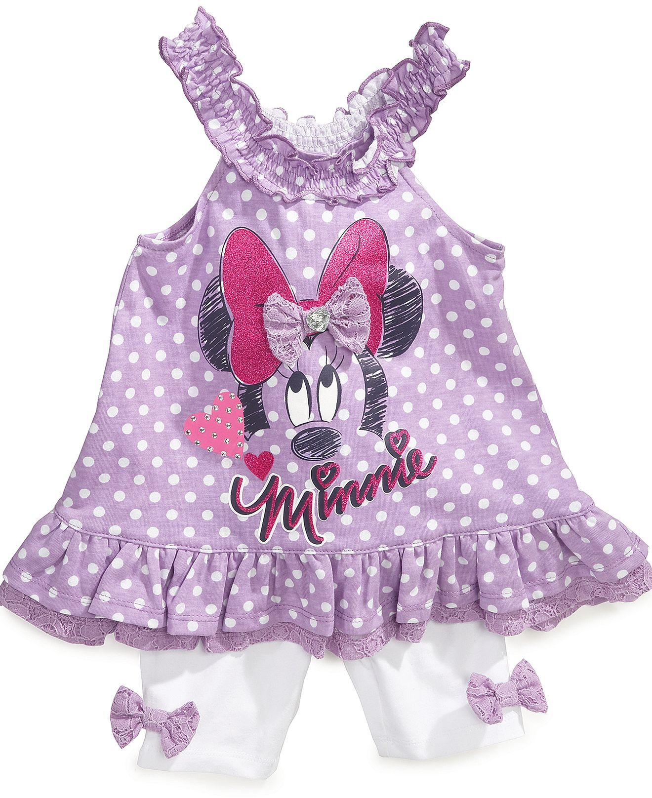 Nannette Baby Set Baby Girls Minnie Mouse Top and Leggings Kids