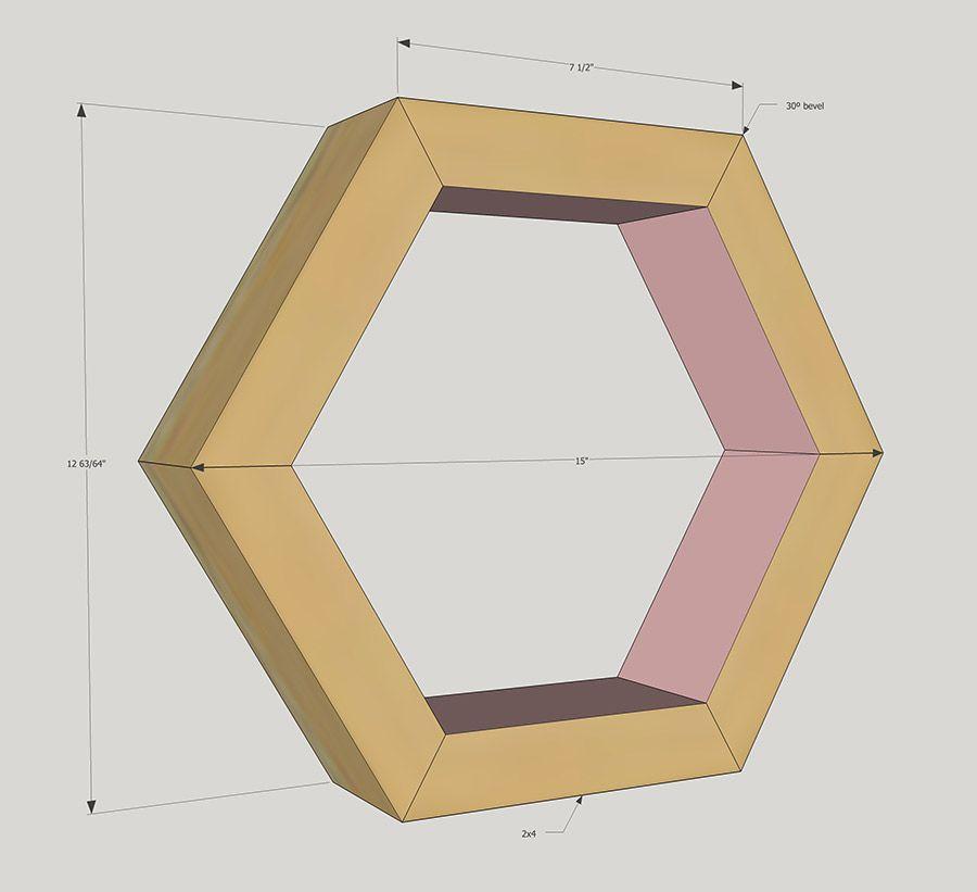 Make A Diy Hexagon Planter Out Of 2X4 Scrap Wood Via Jen 400 x 300