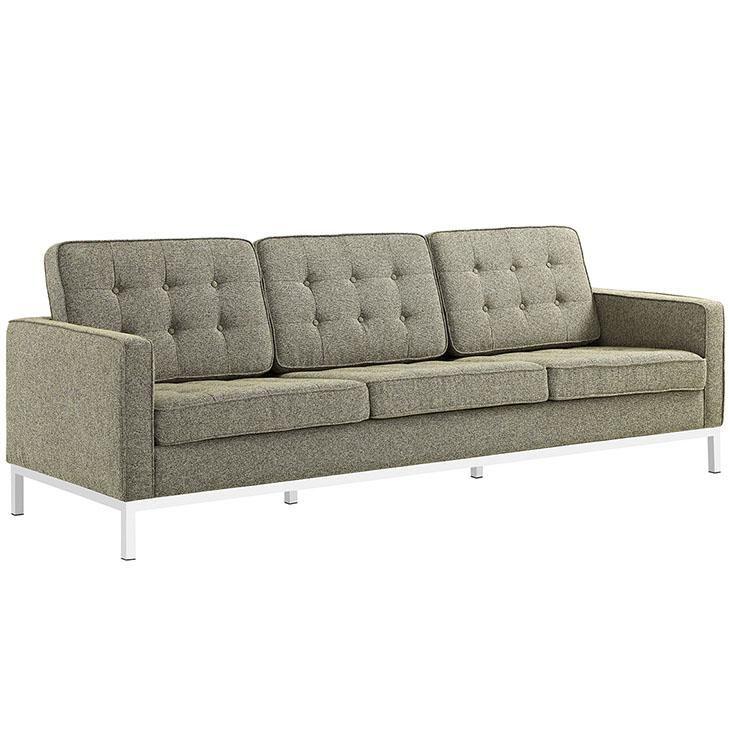 Florence Knoll Style Fabric Sofa